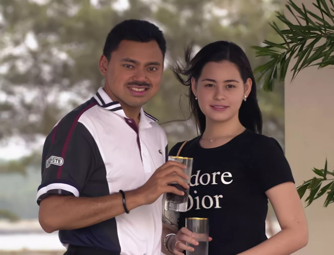 Принц Брунея с женой