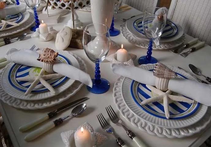 Морская вечеринка оформление стола