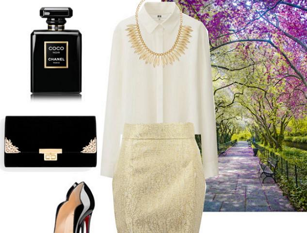 Золотой цвет одежды с чем сочетать