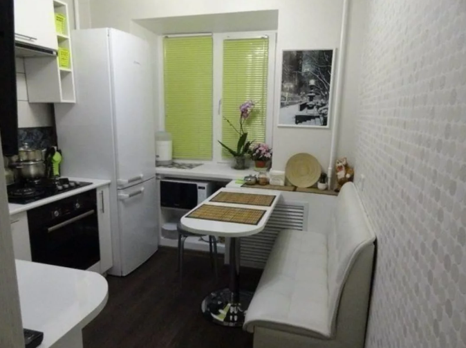 Увеличиваем пространство на маленькой кухне