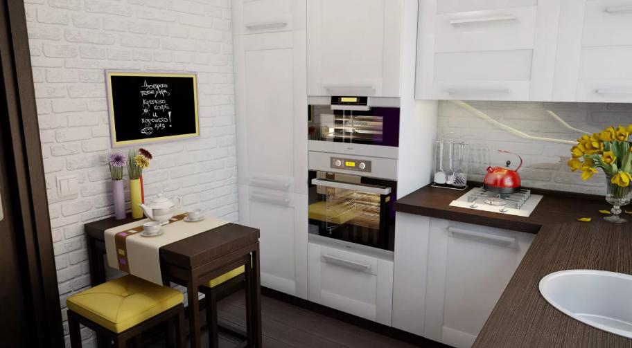 Маленькая кухня - увеличиваем пространство