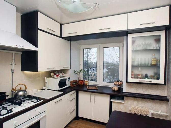 Современный ремонт в маленькой кухне