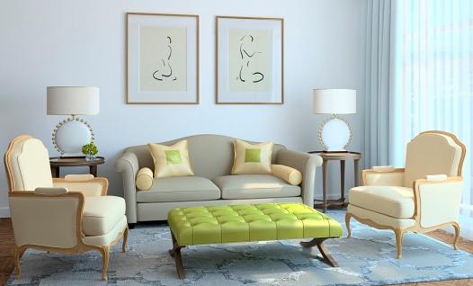 Интерьер гостиной в серых тонах фото