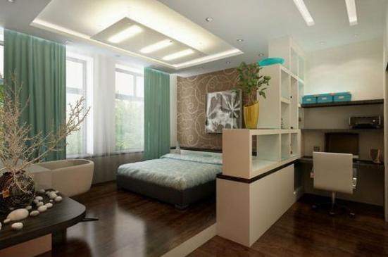 Домашний кабинет в спальне