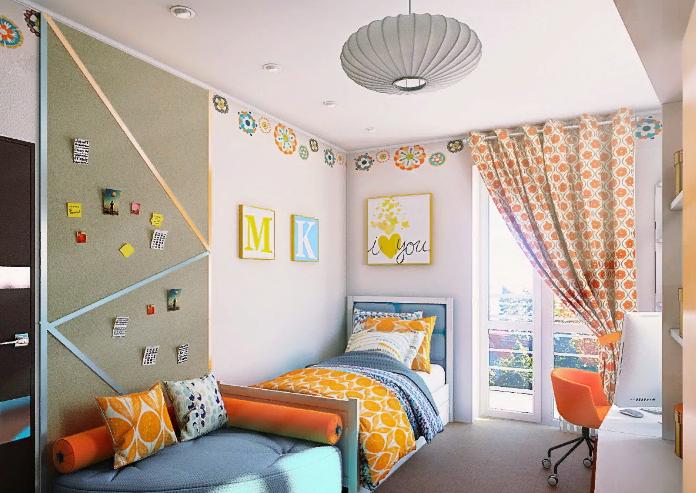 Интерьер детской комнаты оформление