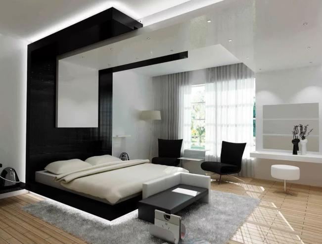 Стиль хай-тек спальня