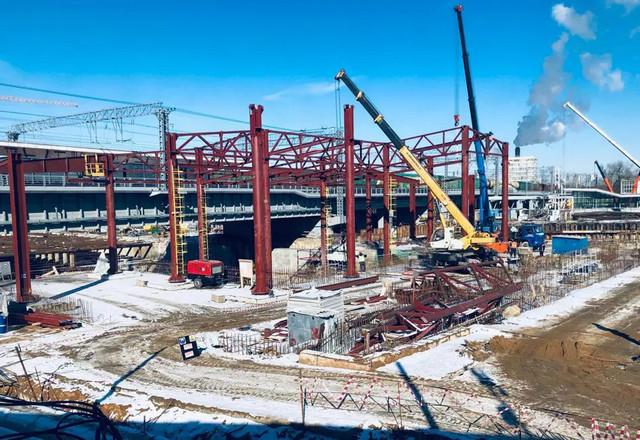 Строительство предприятия для химической отрасли.