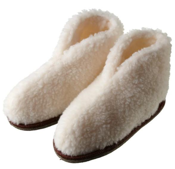 Обувь для дома из овечьей шерсти